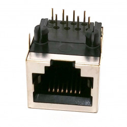 RJ45 ETHERNET JACK 8P8C RIGHT ANGLE SHIELDED