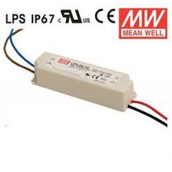 MEANWELL LED DRIVER 12VDC 20W 1.67A 90-264VAC LPV-20-12