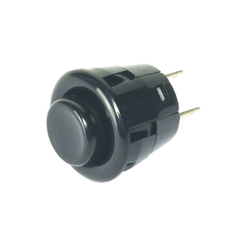 PUSH BUTTON DS-412 BLACK SPST OFF-(ON)