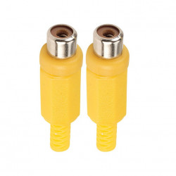 RCA INLINE JACK YELLOW SLF-3804 2PCS/SET