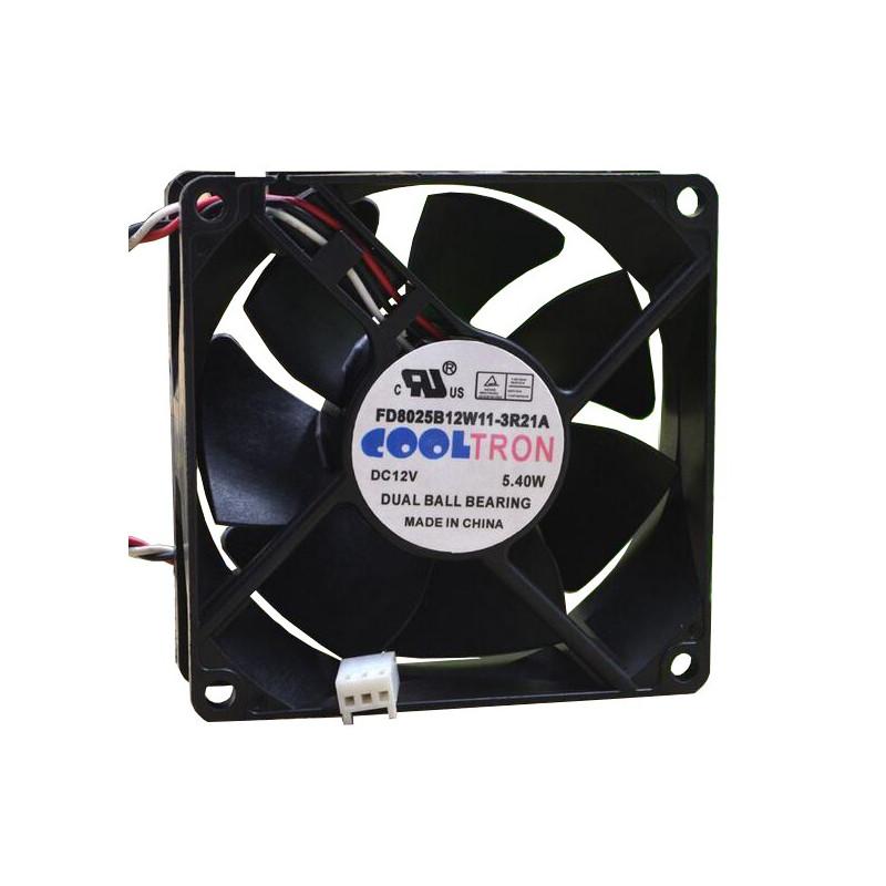 FAN 80X80X25MM 12VDC 5.40W 0.45A DUAL BALL BEARING