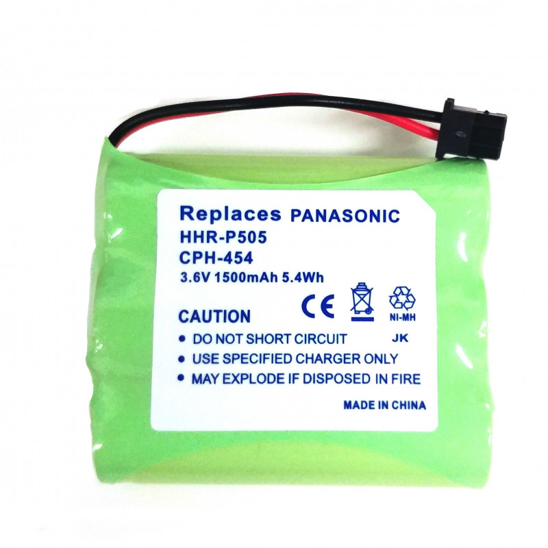 BATTERY, CORDLESS PHONE, NiMH, 3.6V, 1500mAH, AAX3