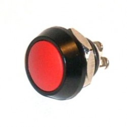 PUSH BUTTON IP67 WATERPROOF MOMENTARY RED GQ12B-A