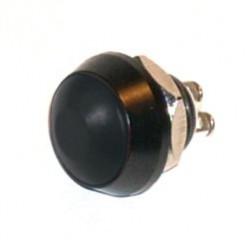 PUSH BUTTON IP67 WATERPROOF MOMENTARY BLACK SCREW TERMINAL