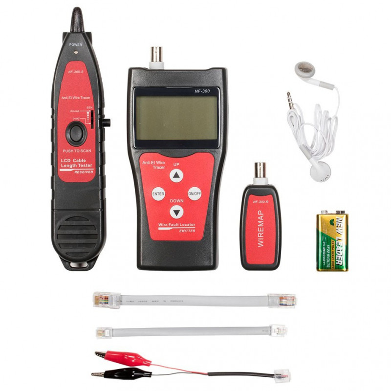 MULTIFUNCTION CABLE TESTER W/DISPLAY RJ45/11/12, COAXIAL