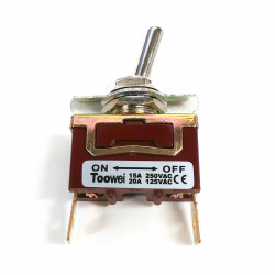 TOGGLE SWITCH,SPST,ON-OFF,20A,SOLDER LUG R13-29A-0