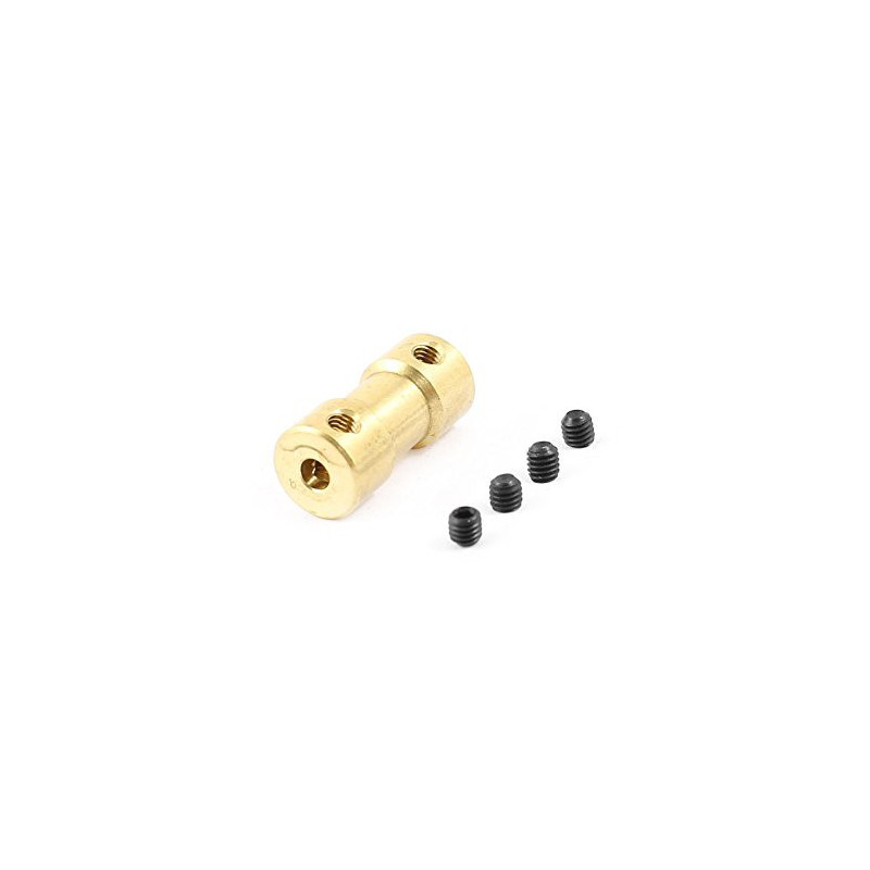 BRASS SHAFT COUPLER 5MM TO 6MM