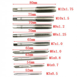 TOOL, 20PCS SCREW TAPS AND DIES SET M3-M12