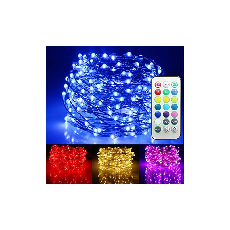 FAIRY STRING LIGHTS 100 LED, 13 COLOR PRESET, /W CONTROL 10M