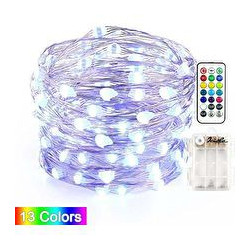 FAIRY STRING LIGHTS 50 LED, 13 COLOR PRESET, /W CONTROL 5M