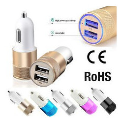 AUTO CHARGER W/ 2 USB 5VDC UP TO 2.1A