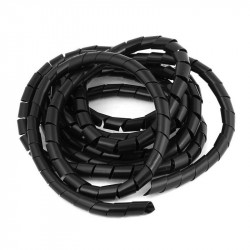 TUBING 10MM SPIRAL WRAP BLACK 10M