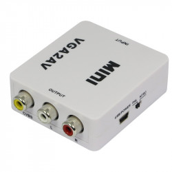 VGA TO RCA CONVERTER BOX USB POWERED