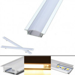 FLAT LED STRIP 24V WITH ALUMINUM HOUSING 1M