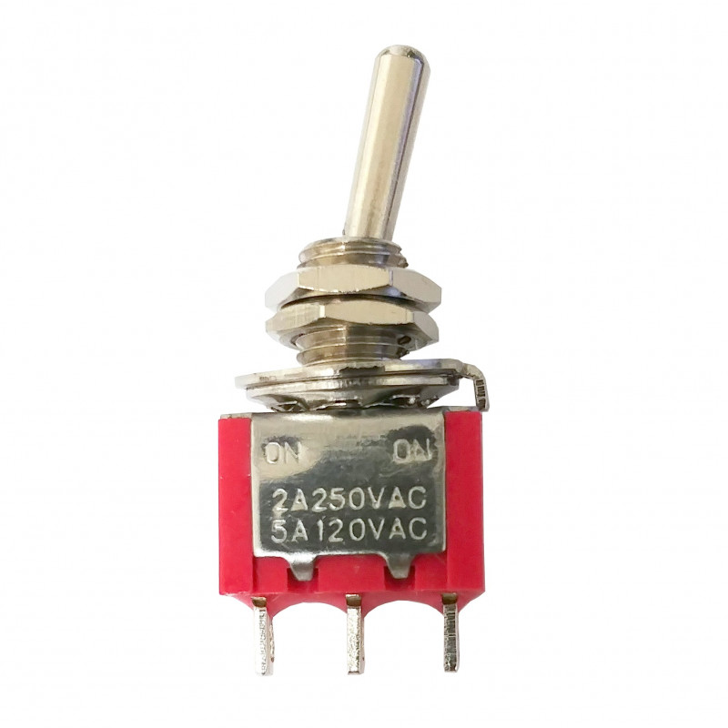 TOGGLE SWITCH,SPDT,ON-ON,5A,SOLDER LUG