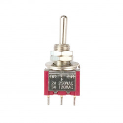 TOGGLE SWITCH SPDT (ON)-OFF-(ON) 5A SOLDER LUG