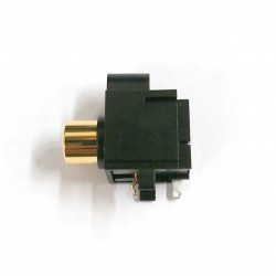 RCA SINGLE SOCKET PCB MOUNT WITH HOUSING