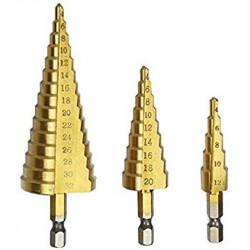 HOLE ENLARGING DRILL BIT KIT 4-32MM STEEL