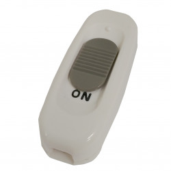 INLINE ON/OFF SLIDE SWITCH WHITE