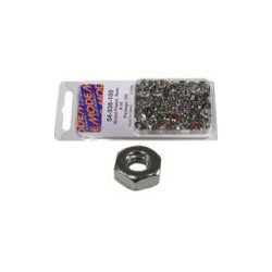 NICKLE PLATED HEX NUTS 4-40 100PCS 54-526-100