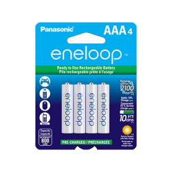 BATTERY, RECHARGEABLE, AAA, NiMH, 800mAh 4PKG