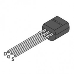 PWR MOSFET BS170 N-CHANNEL 60V 0.5A 1.2OHM