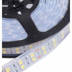 LED STRIP, DUAL, /W TUBING, 5050, 120 LED/M, COLD WHITE, /M