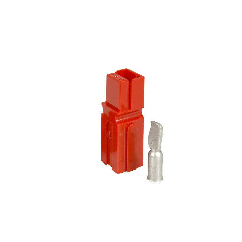 CONNECTORS, ANDERSON, PP75 RED W/6AWG PINS 2/PKG