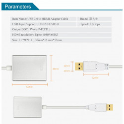 USB 3.0 TO HDMI ADAPTER 1080P