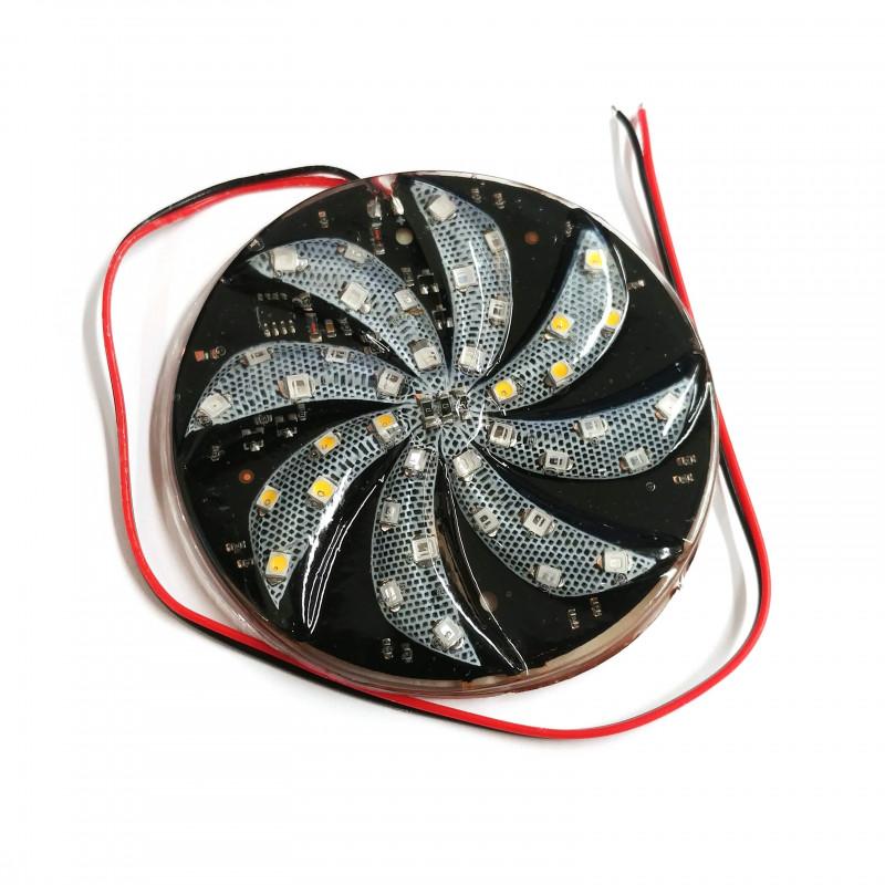 LED RGBW SPIN WHEEL 80MM (D) 12VDC