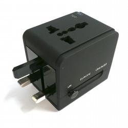 UNIVERSAL PLUG ADAPTER W/ DUAL USB SOCKET