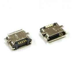 MICRO USB, FLAT, SMD PCB CONNECTOR, SURFACE MOUNT TYPE