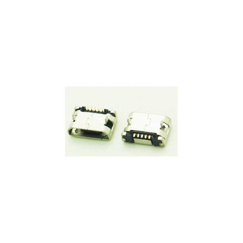 MICRO USB, FLAT, SMD PCB CONNECTOR, DIP MOUNT TYPE, 5.9MM