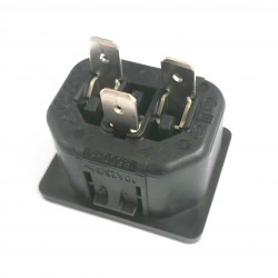 IEC PANEL MOUNT 15A 250V POWER SOCKET CSA C13