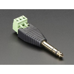 1/4 INCH (6.35MM) STEREO PLUG TERMINAL BLOCK