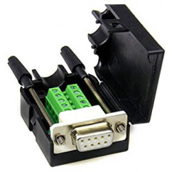 DB9 (F) SOCKET TO TERMINAL BLOCK BREAKOUT