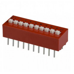 10 SPST DIP SWITCH, GRAYHILL 78B10ST