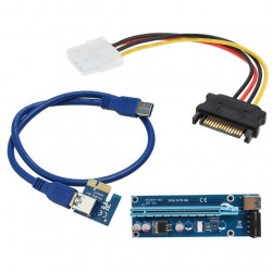 PCI-E 1X TO 16X THROUGHT USB 3.0 ADAPTER