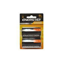 BATTERIES ENERSTAR D CELL ALKALINE 2/PKG