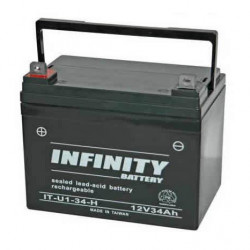 BATTERY, RECHARGEABLE, LEAD ACID, 12V 34A INFINITY