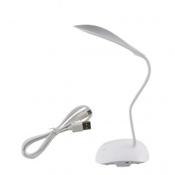 LED DESK LAMP, FLEXIBLE, /W USB POWER, 3 BRIGHTNESS LEVELS