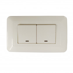WONPRO LIGHT SWITCH, 2-GANG