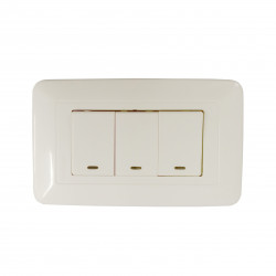 WONPRO LIGHT SWITCH, 3-GANG