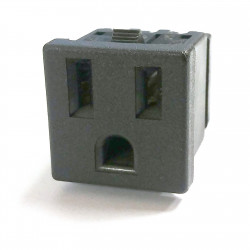 POWER SOCKET, NEMA 5-15R SNAP IN, 125V 15A