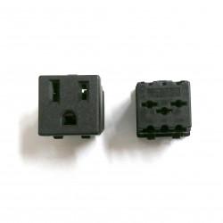 POWER SOCKET, NEMA 5-15R SNAP IN, 125V 15A