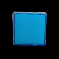 PUSH BUTTON COVER (BLUE) SQUARE