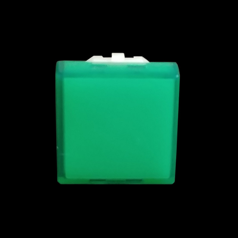 PUSH BUTTON COVER (GREEN) SQUARE