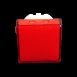 PUSH BUTTON COVER (RED) SQUARE