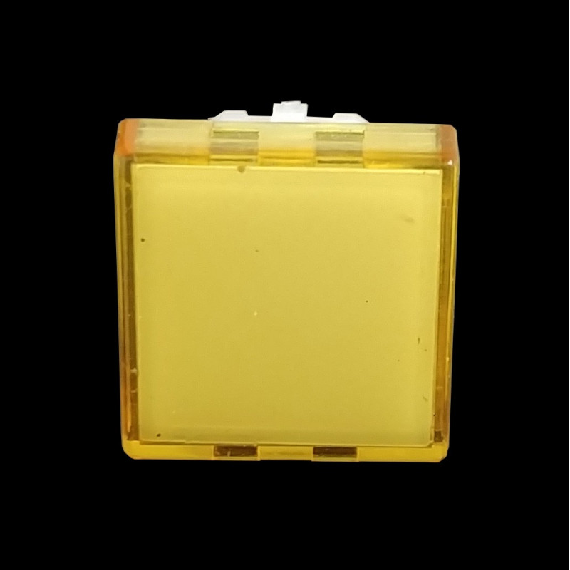 PUSH BUTTON COVER (YELLOW) SQUARE