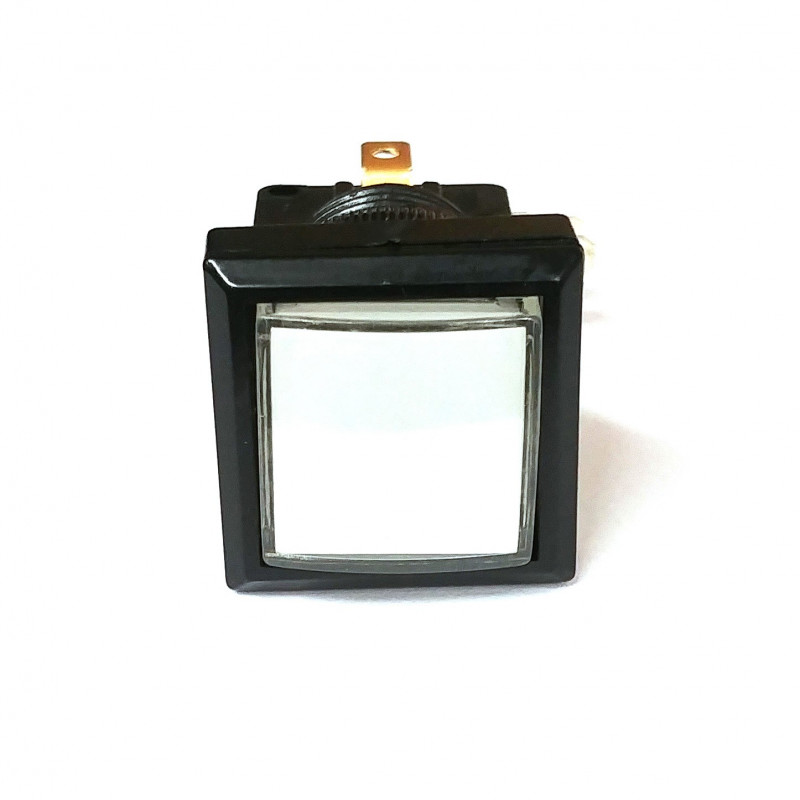 PUSH BUTTON SWITCH SQUARE W/ LIGHT WHITE MOMENTARY